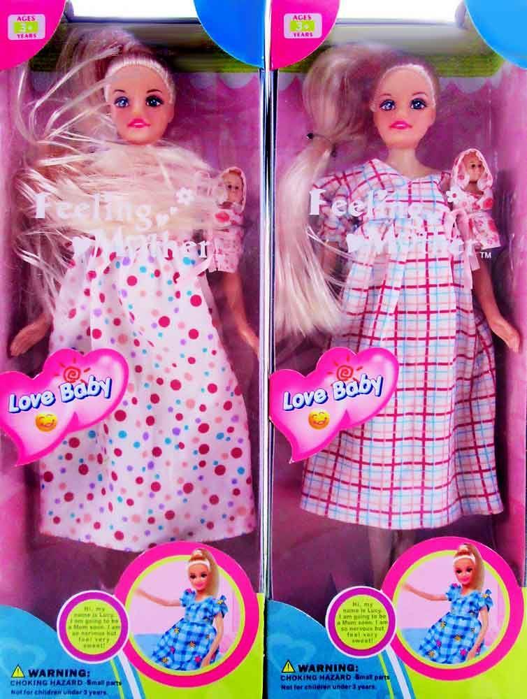 Беременная кукла Defa Lucy со съемным животом и двумя - V3Toys