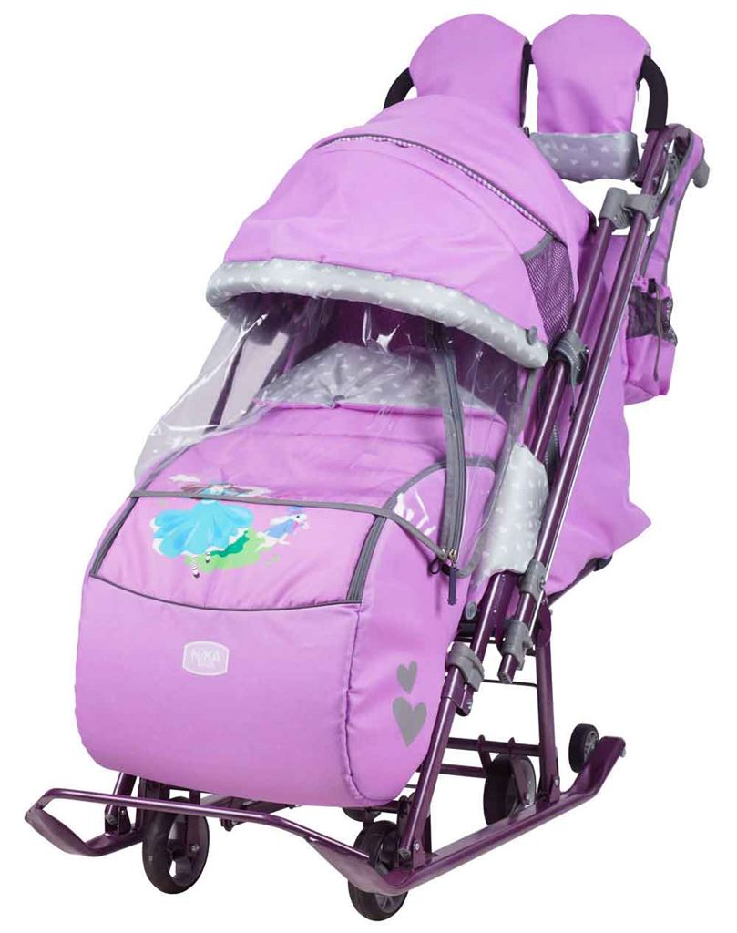 Санки-коляска Ника-Детям 7-4 лиловые